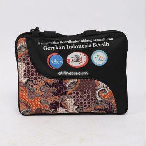 tas laptop batik untuk seminar, diklat, rapat kerja