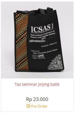 tas seminar batik ICSAS souvenir seminar acara