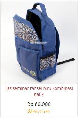 tas ransel batik biru