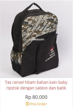 harga tas seminar kit ransel batik