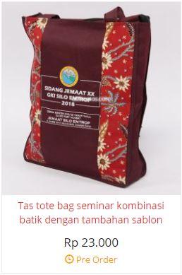 harga tas seminar, tas seminar jinjing batik merah, tas sidang jemaat